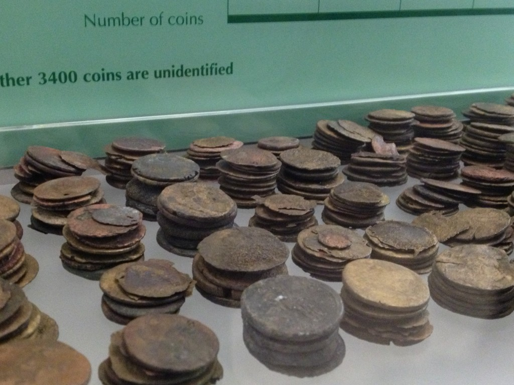 Roman coins found at the site