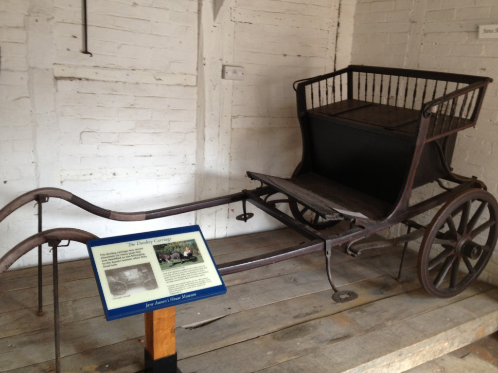 Jane and Cassandra's donkey carriage.