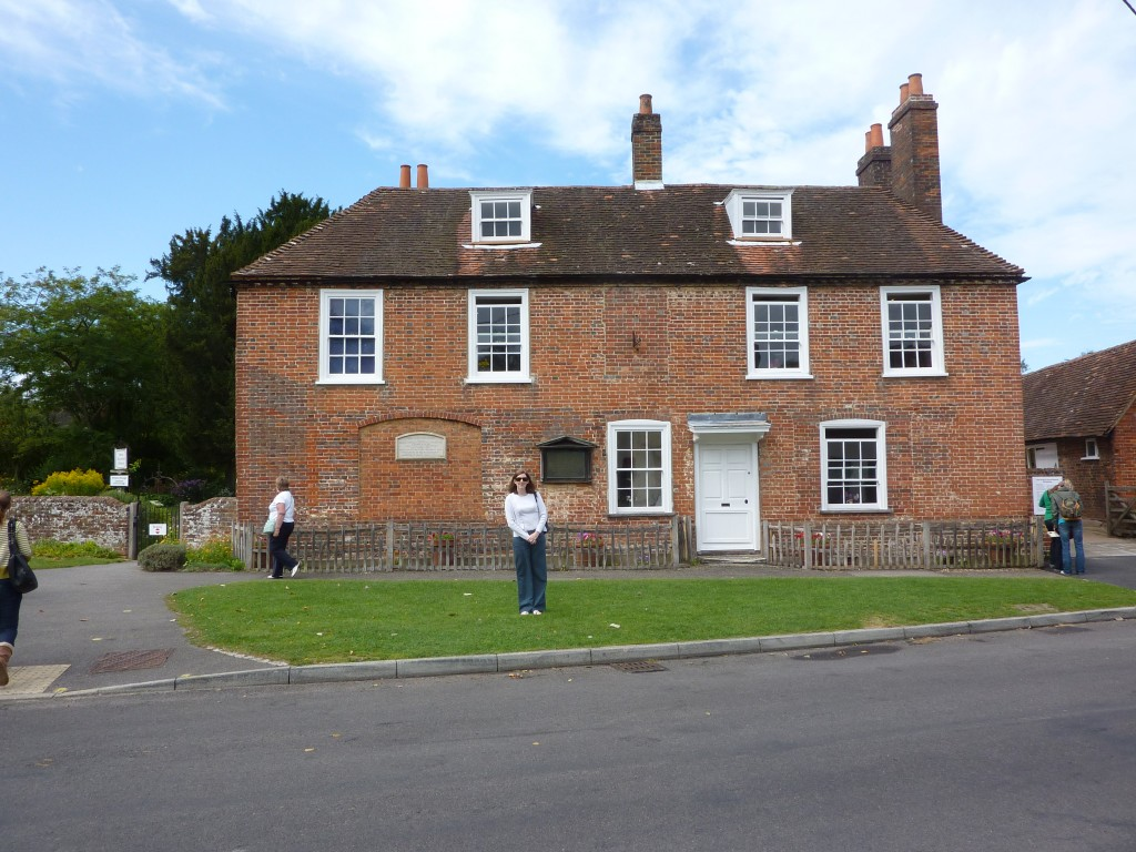 Jane's Georgian house in Chawton is about an hour from London.